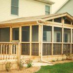 Wooden Deck / Porch Backyard Screen Room Project