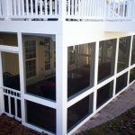 Screen Room Installed Under A Deck